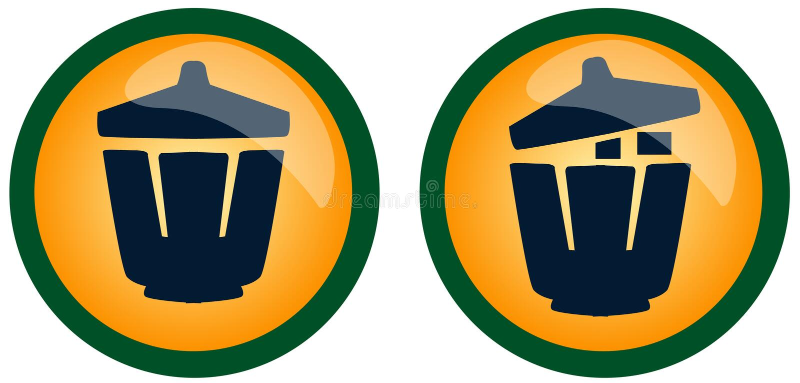 Download Symbol of trash bin stock vector. Image of kitchen, cleanup - 19283105