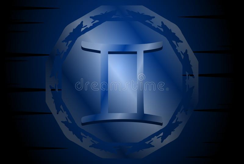 Symbol of twins sign on background royalty free illustration