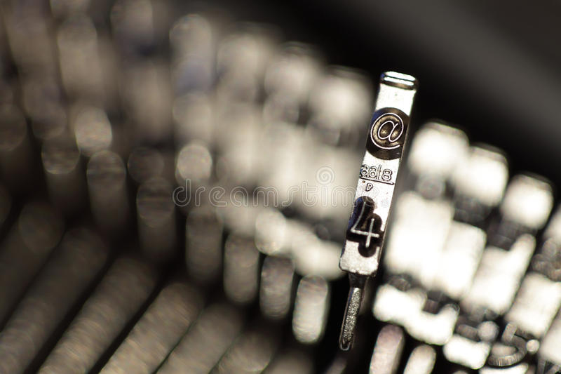 The @ Symbol On A Typewriter Stock Images