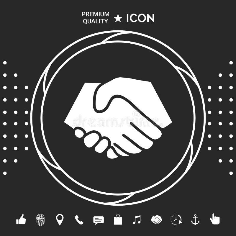 Symbol uścisk dłoni w okręgu Znak Graficzni elementy dla twój designt ilustracji