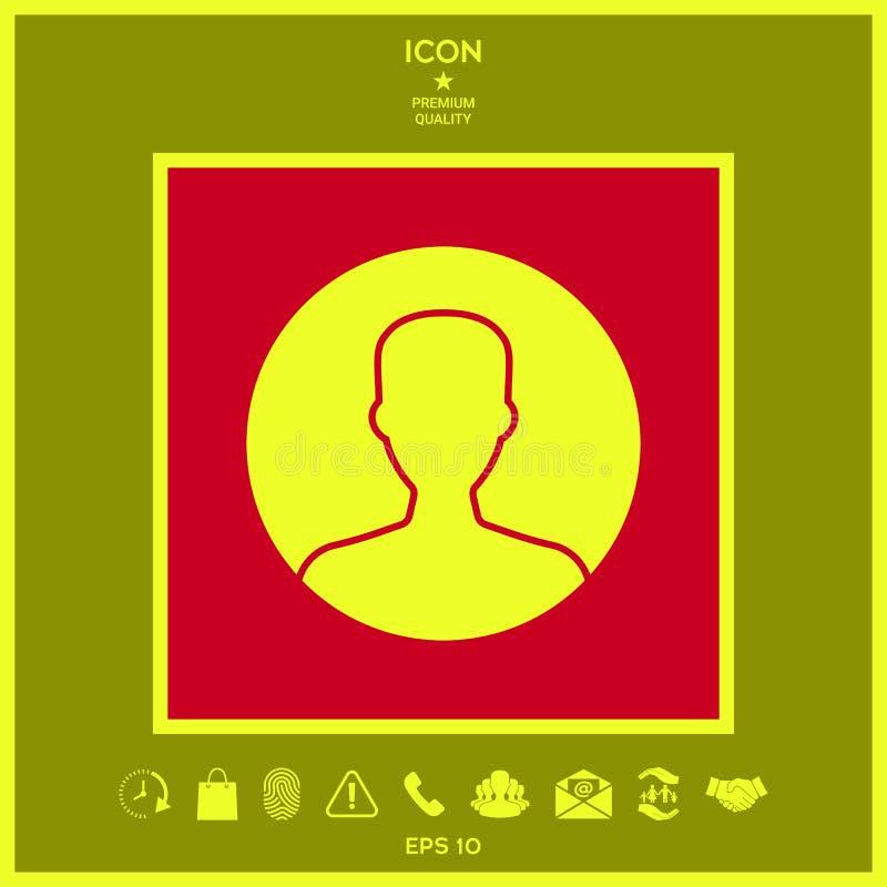 Symbol użytkownik ikona w okręgu Profilowa ikona ilustracji