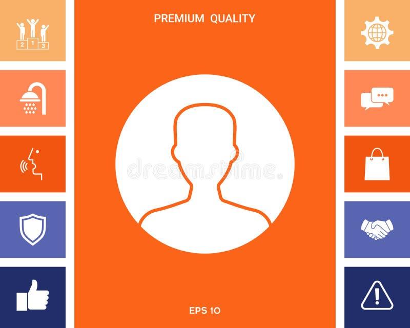 Symbol użytkownik ikona w okręgu Profilowa ikona ilustracja wektor