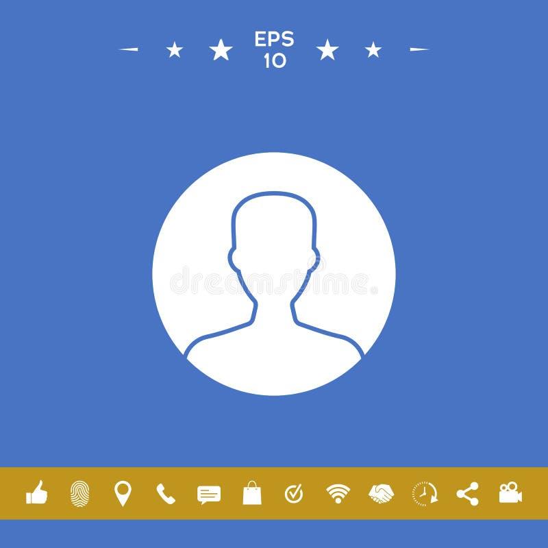 Symbol użytkownik ikona w okręgu Profilowa ikona royalty ilustracja