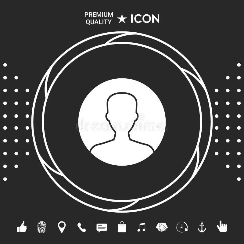 Symbol użytkownik ikona w okręgu Profilowa ikona Graficzni elementy dla twój designt ilustracja wektor