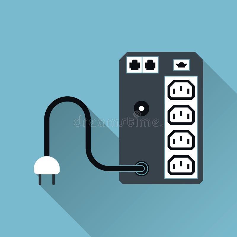 Symbol UPS-unterbrechungsfreier Stromversorgung, Langer Schatten ...