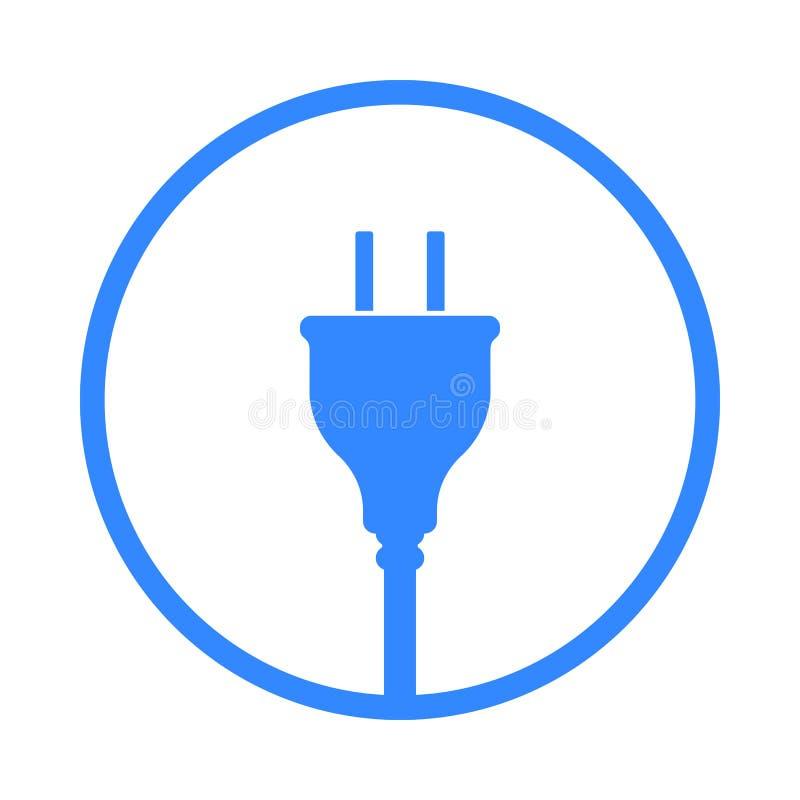 Symbol USA för elektrisk propp, symbol Standard Förenta staterna stock illustrationer