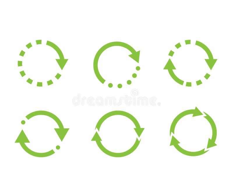 Symbol-Vektor wiederverwenden Symbol für Recyclingsatz Ökologisch reine Mittel Pfeile Ökobilanz vektor abbildung