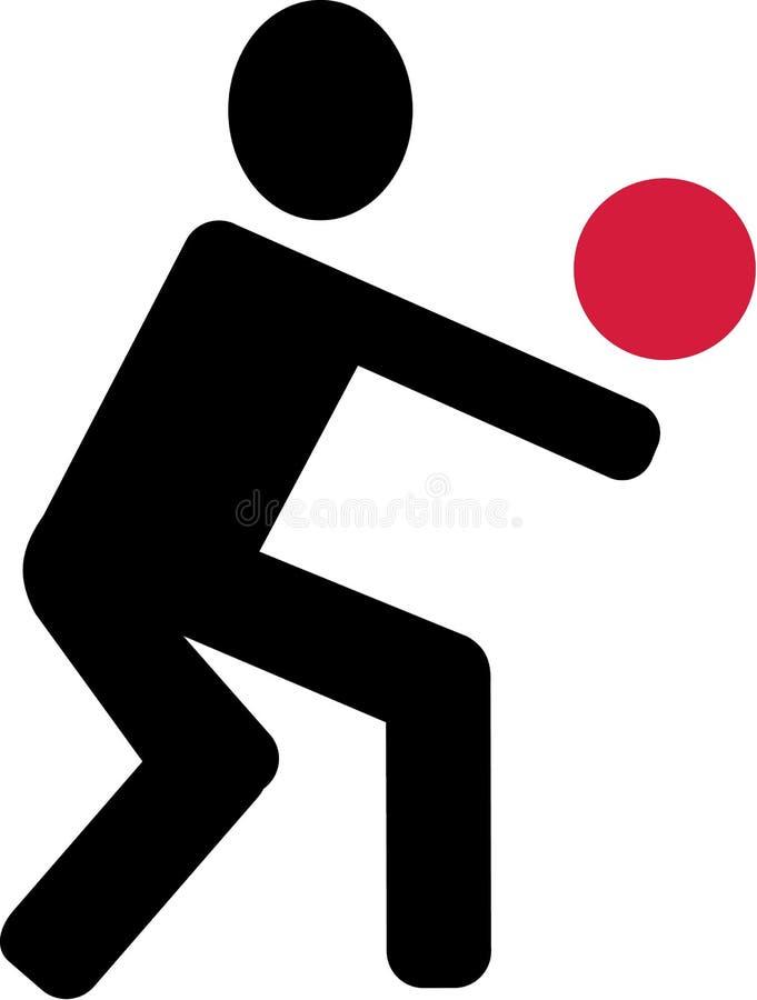 Symbol-Volleyball-Spieler vektor abbildung