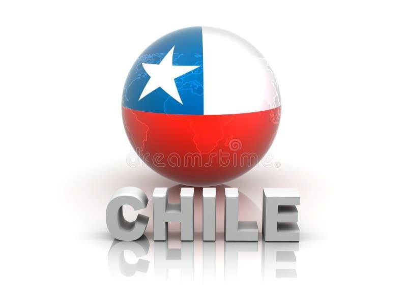 Symbol von Chile stock abbildung