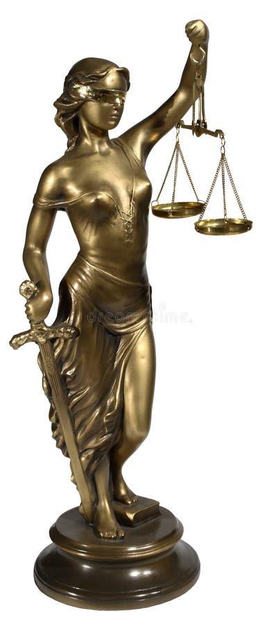 Symbol von Gerechtigkeit stockfoto