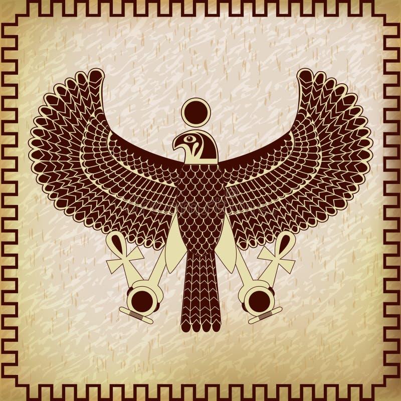 Symbol von Horus-Falken lizenzfreie abbildung