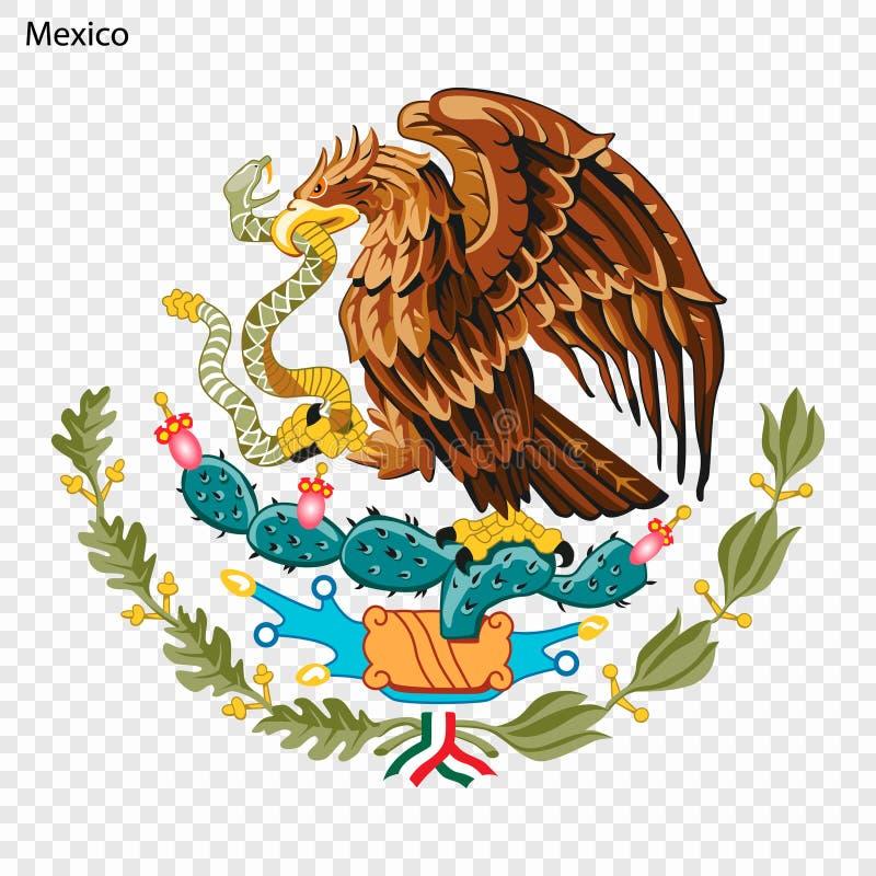 Symbol von Mexiko lizenzfreie abbildung