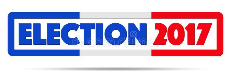 Symbol von Wahl 2017 in Frankreich lizenzfreie abbildung