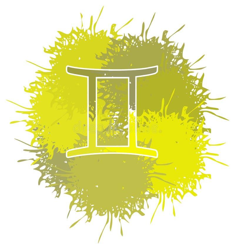 Symbol von Zwillingen unterzeichnen gemacht mit den lokalisierten Stellen lizenzfreie abbildung