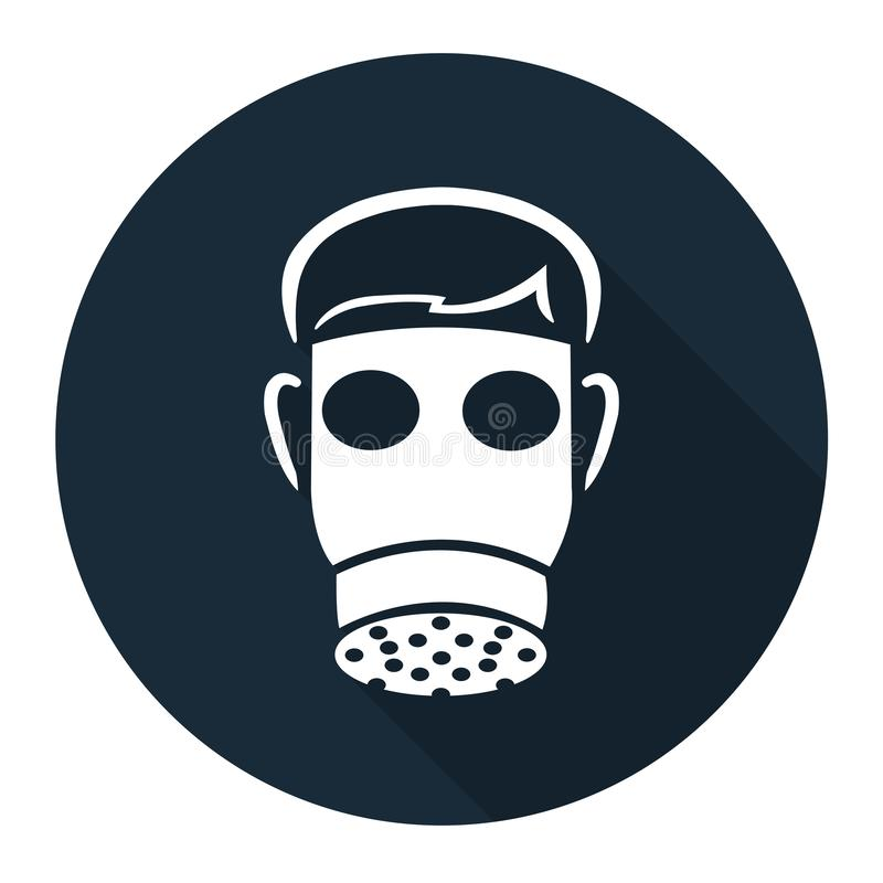 Symbol Wear Full Face Isolate On White Background,Vector Illustration. Portrait, people, person, adult, young, black, sport, male, extreme, man, studio, helmet stock illustration