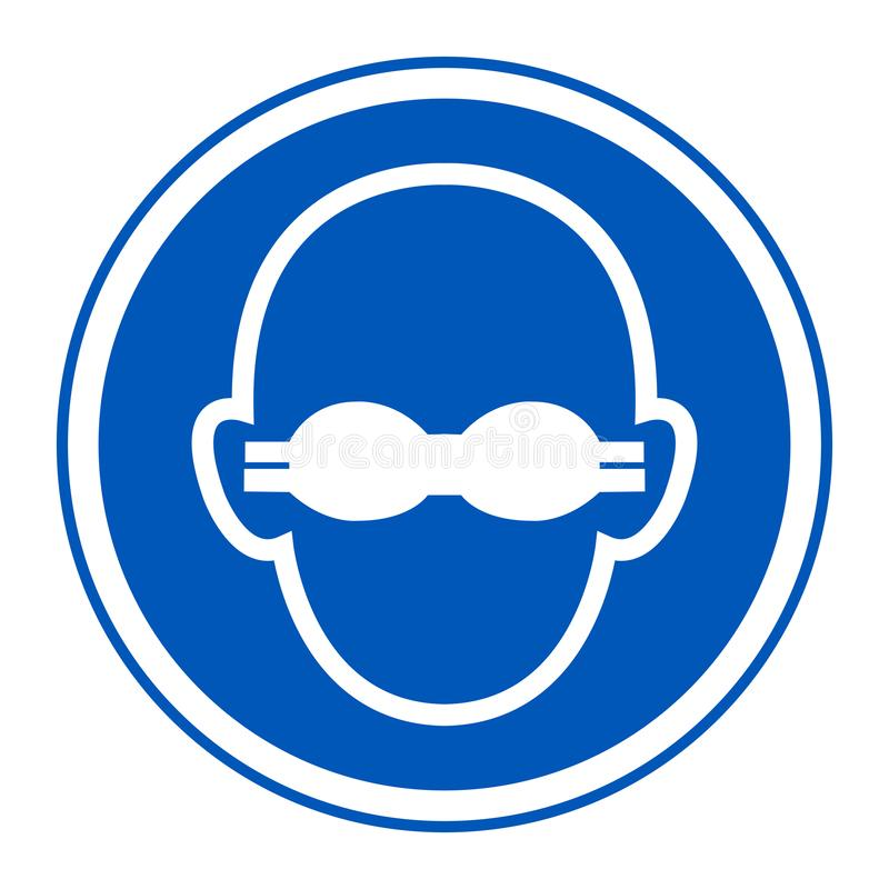 Symbol Wear Opaque Eye Protection Sign Isolate On White Background,Vector Illustration EPS.10. Isolated, protective, glasses, plastic, object, frame, accessory vector illustration