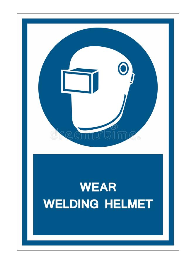Symbol Wear Welding Helmet Isolate On White Background,Vector Illustration EPS.10. Safety, industrial, protective, protection, mask, construction, industry royalty free illustration