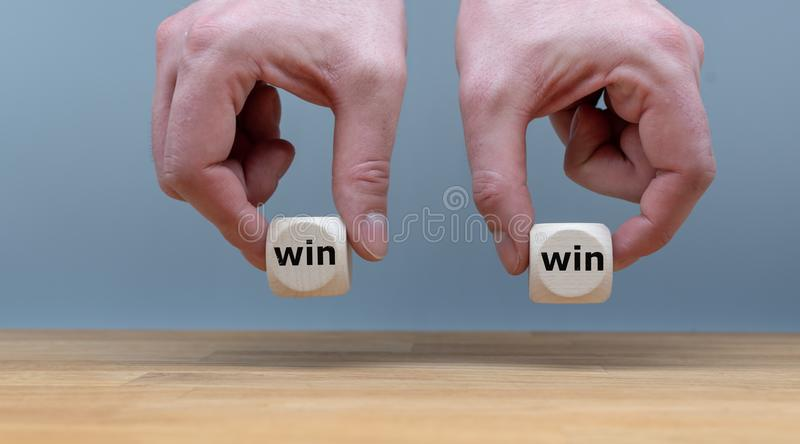 Symbol for a win win situation. stock photography