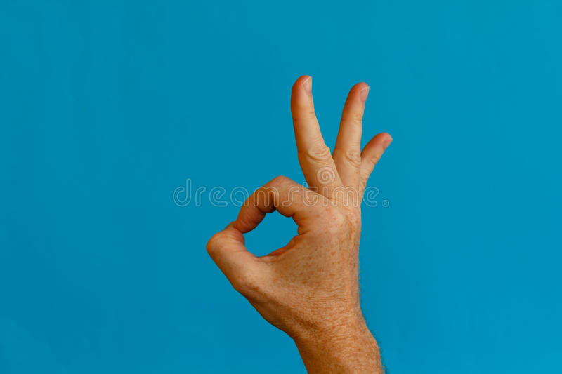 The Symbol For The Word Okay Stock Photo Image Of Contract Right