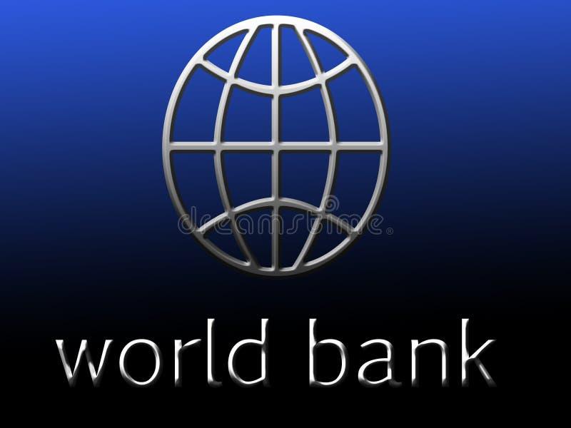 Symbol of world bank. stock illustration