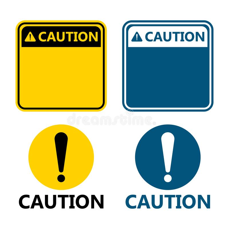 symbol yellow caution sign icon,Exclamation mark ,Warning Dangerous icon on white background vector illustration