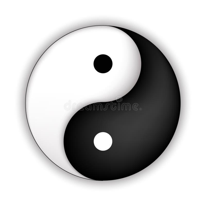 symbol yin Yang ilustracji