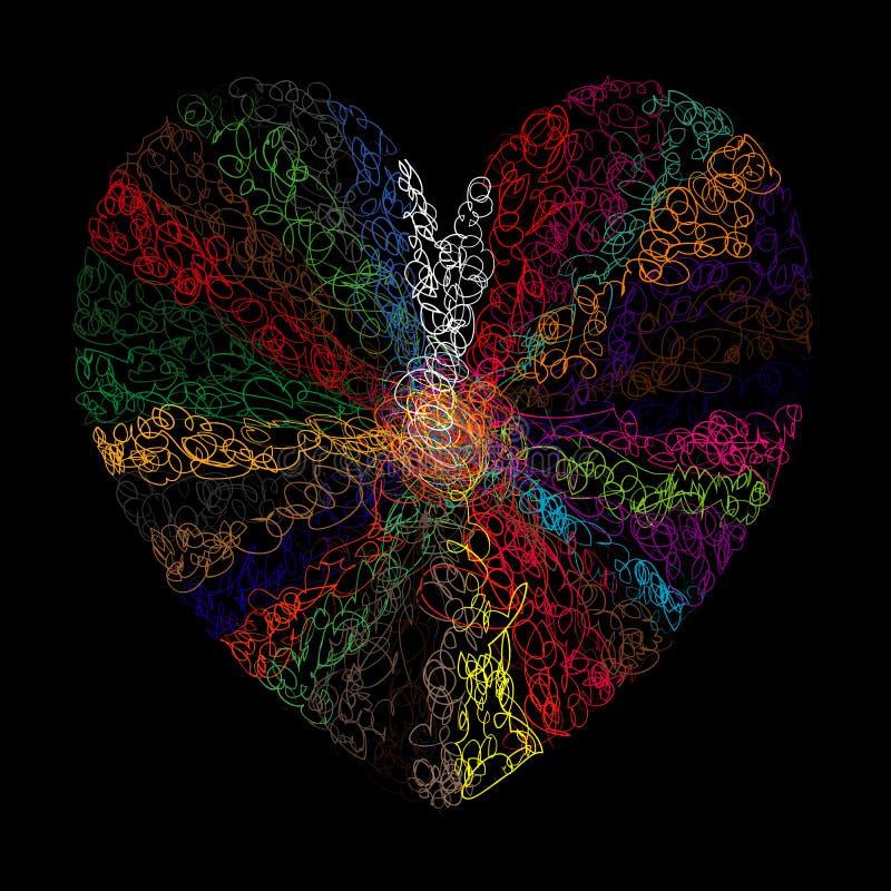 Symbol złożoność miłość ilustracja wektor