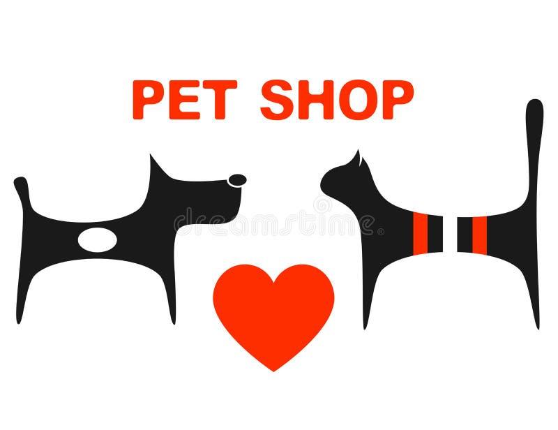 Symbol zwierzę domowe sklep royalty ilustracja