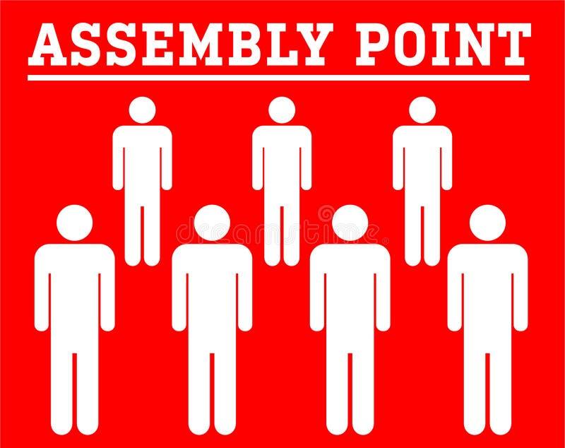 Symbolboard do ponto de conjunto com os povos do ícone de grupo isolados no re ilustração stock