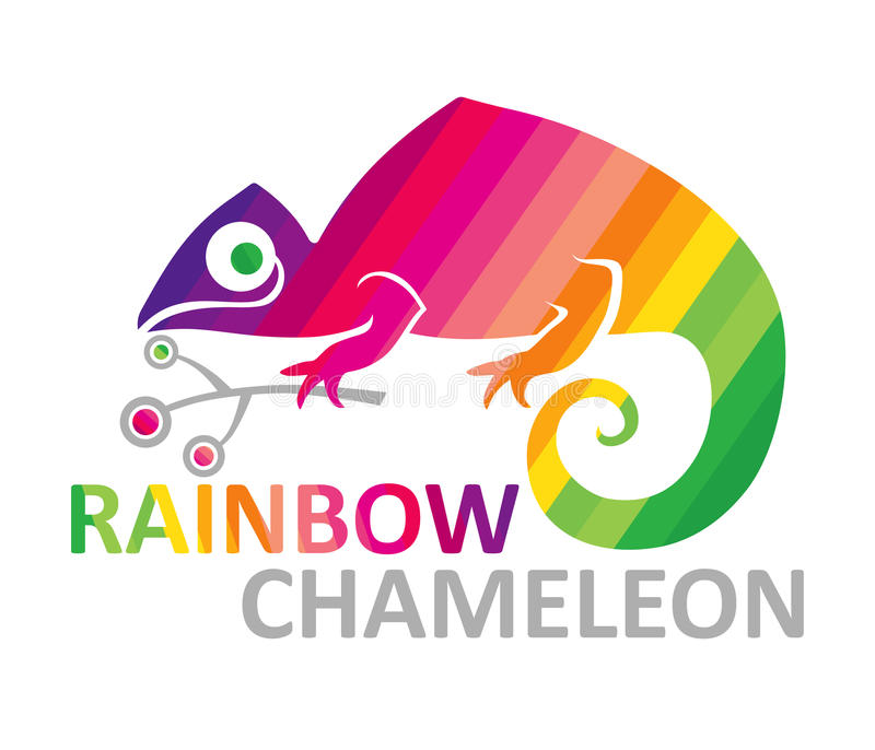 Regenbogenchamäleon. lizenzfreie abbildung