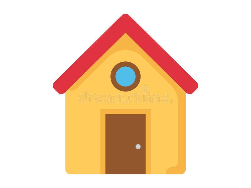 Symbole à la maison de signe d'icône de vecteur illustration stock