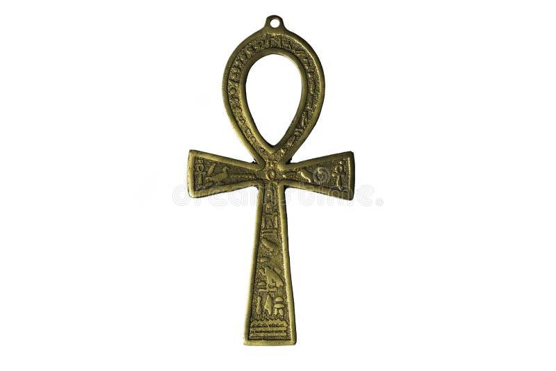 Symbole égyptien de la vie Ankh d'isolement sur le blanc photos stock