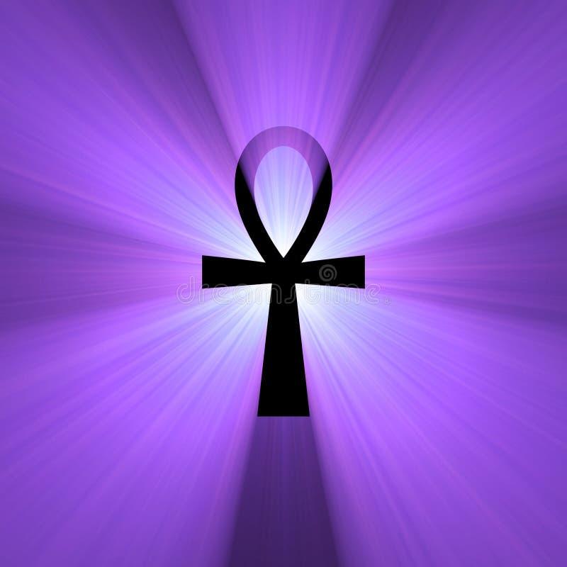 symbole égyptien de lumière de durée d'épanouissement d'ankh illustration de vecteur