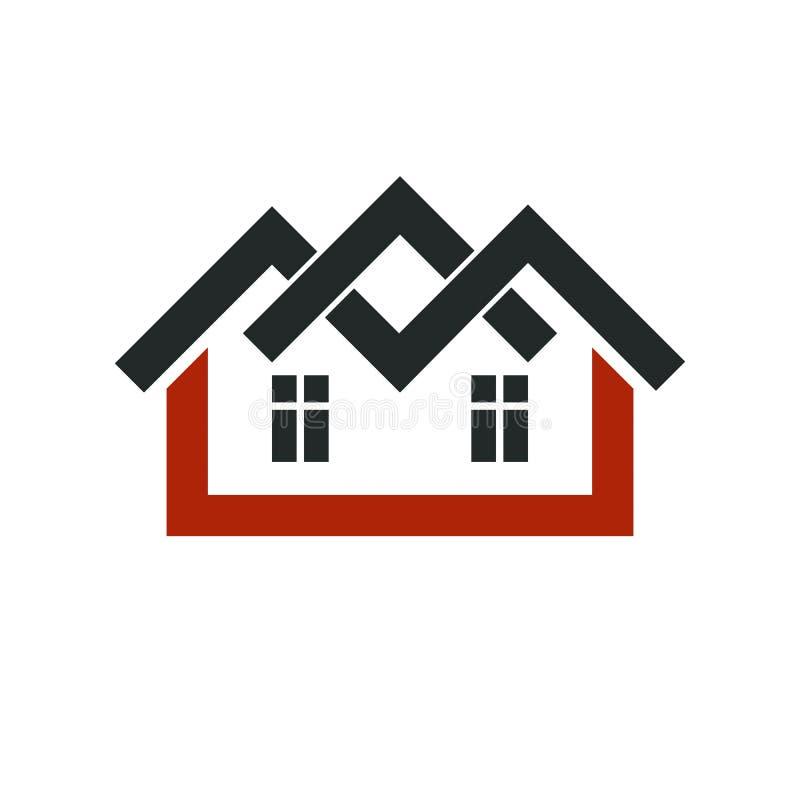 Symbole élégant de vecteur d'agence immobilière de promoteur immobilier créateur illustration de vecteur