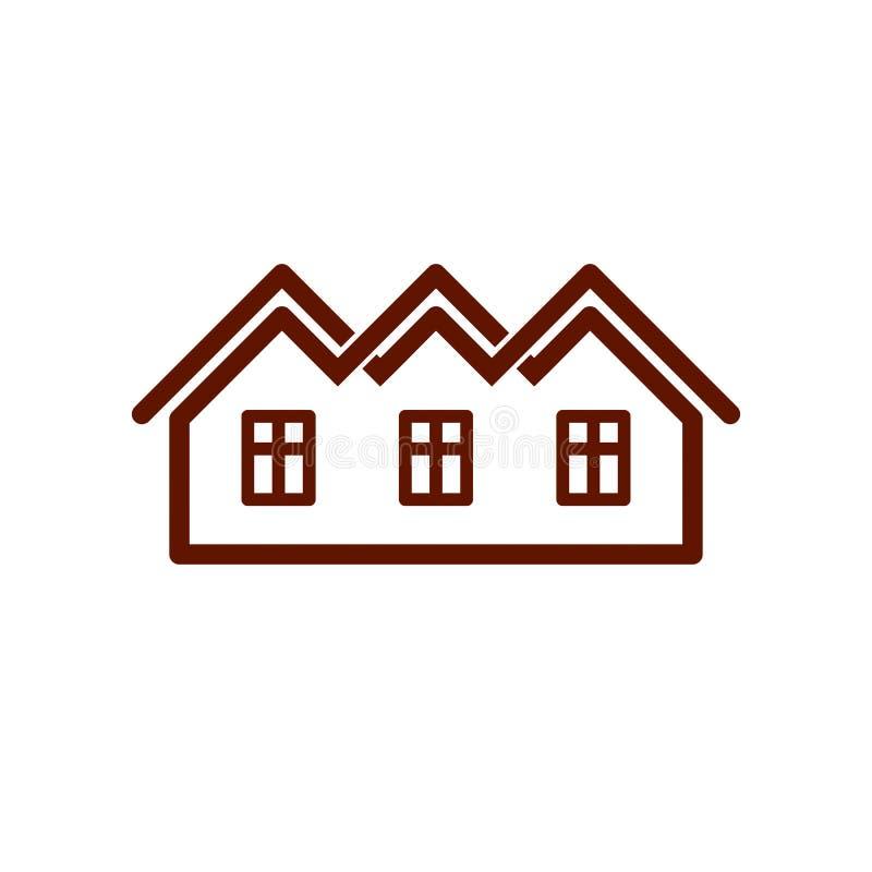 Symbole élégant de vecteur d'agence immobilière de promoteur immobilier créateur illustration stock
