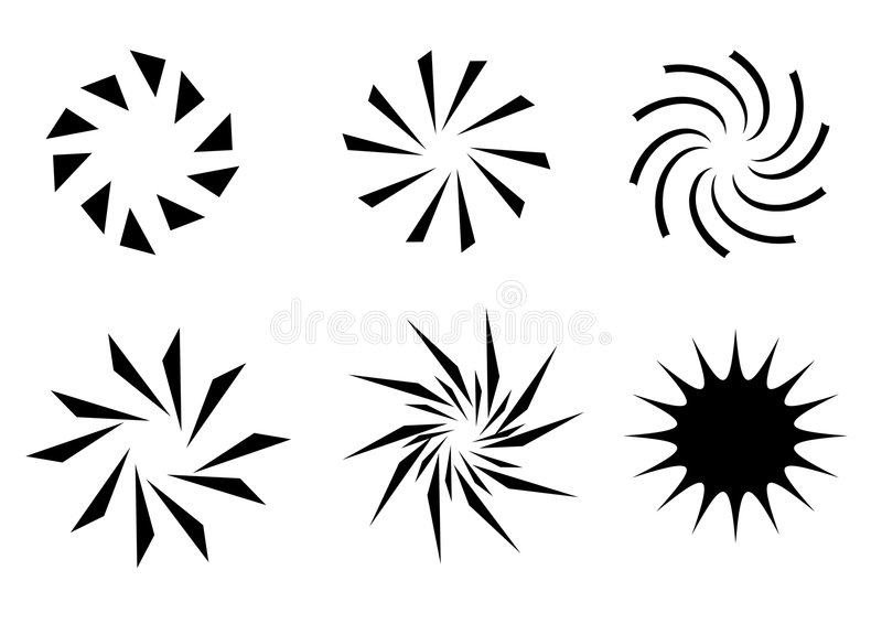 symbole światła słońca ilustracji