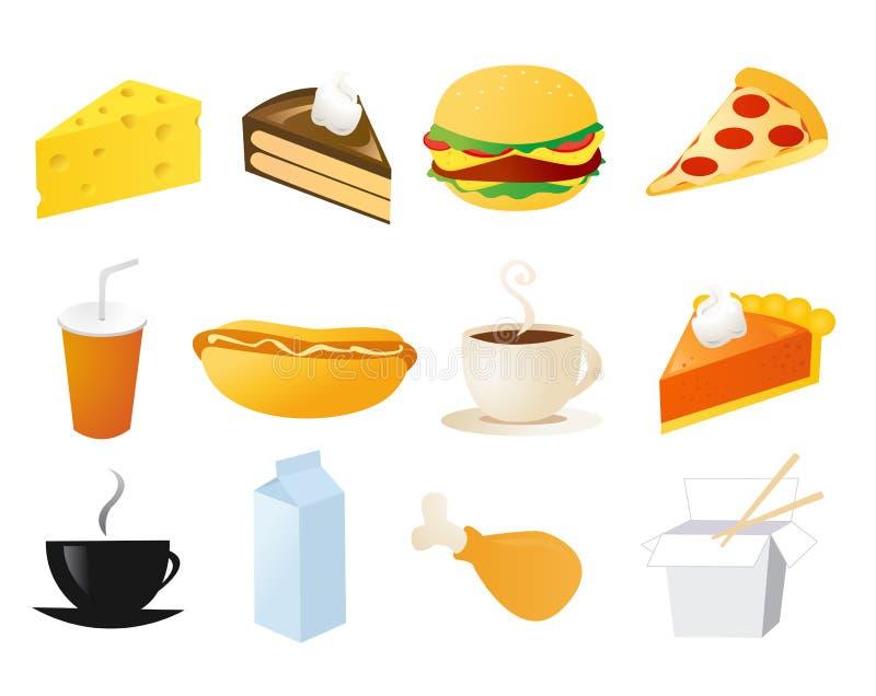 symbole żywności gotowe wektora ilustracja wektor
