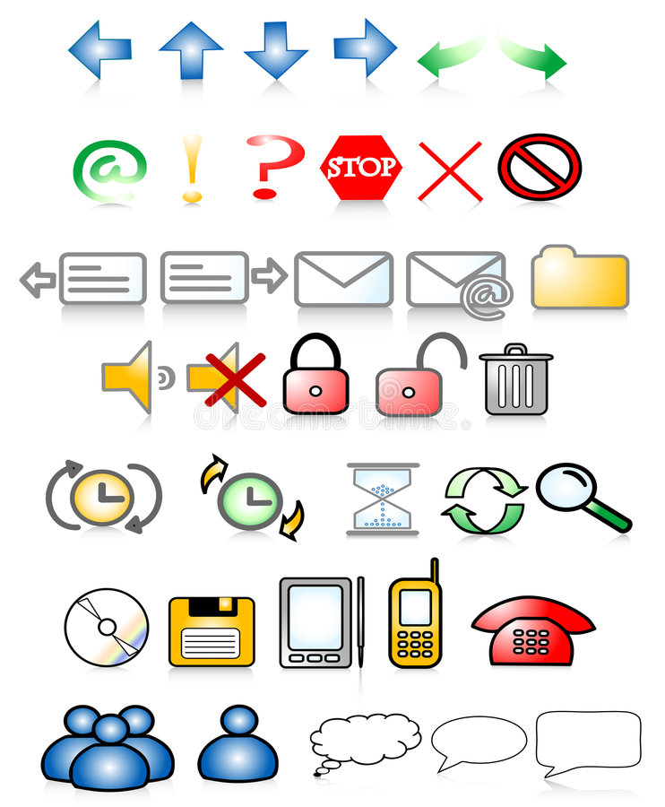 symbole royalty ilustracja