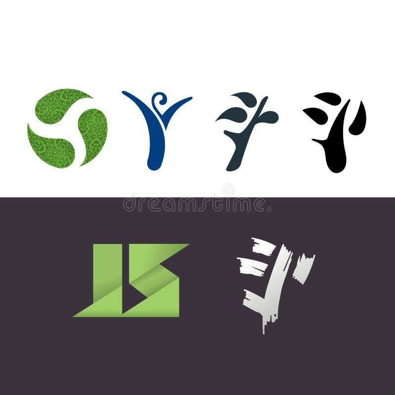 Download Symbole ilustracji. Obraz złożonej z logo, wiosna, listy - 26615380