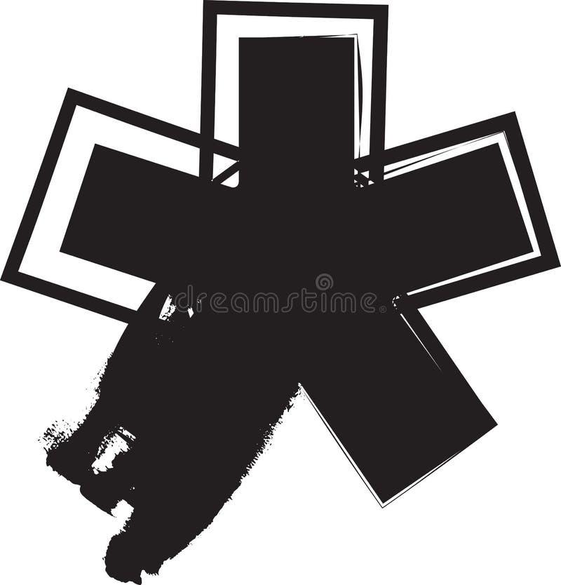 Symbole abstrait d'astérisque illustration stock