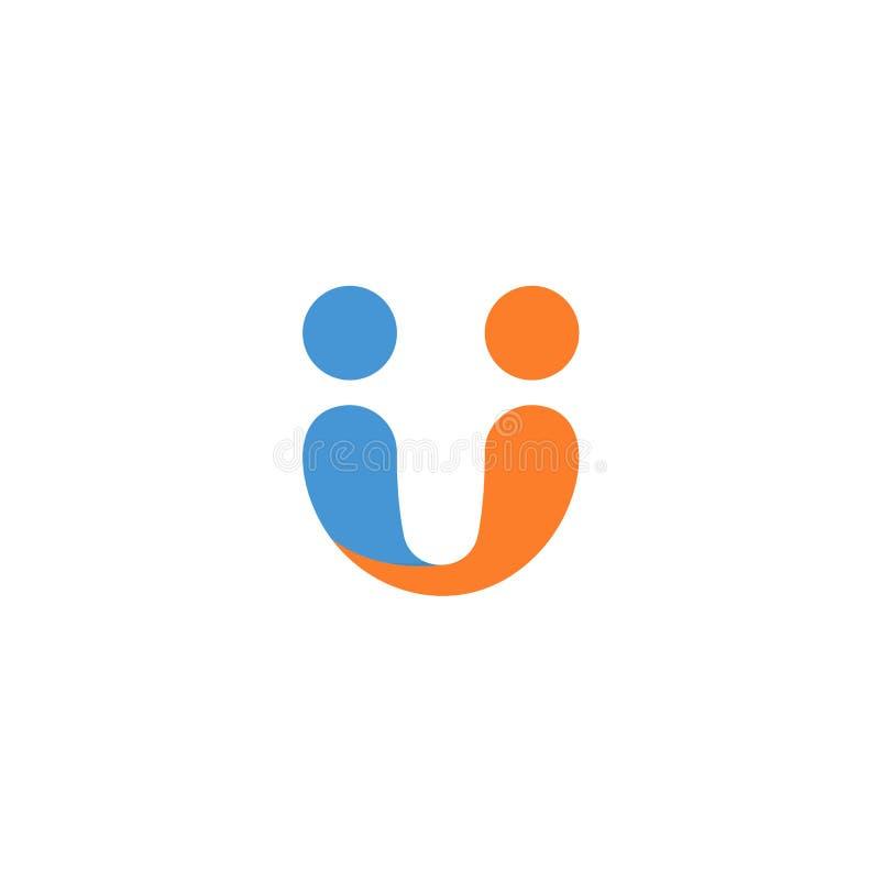 Symbole abstrait de poignée de main Contrat d'affaires signant, icône d'affaire, calibre de logo d'accord Signe de vecteur d'asso illustration stock