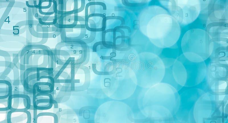 Symbole abstrait financier, cybersecurity de base de données illustration stock