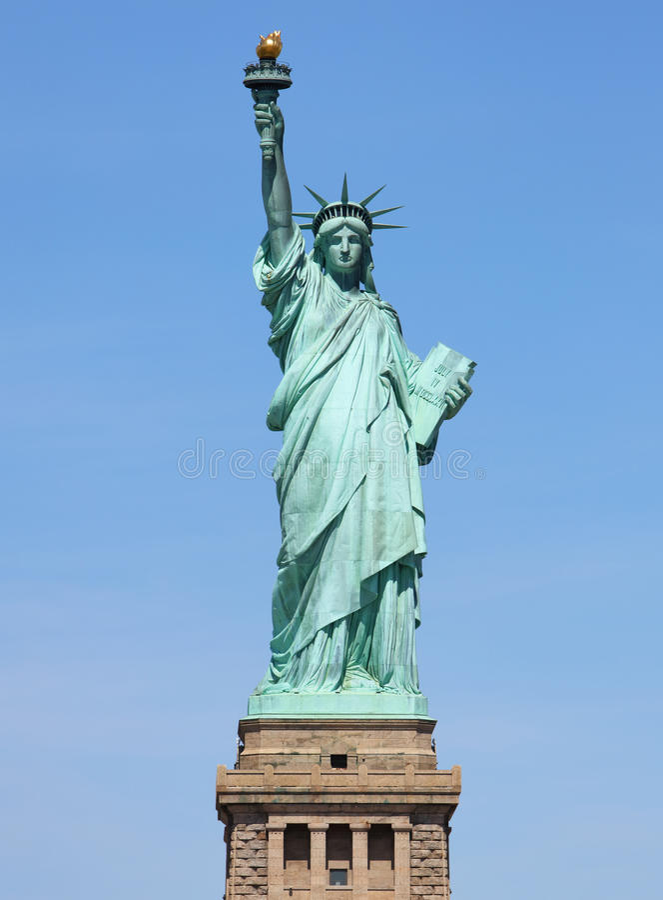 Symbole américain - statue de la liberté les Etats-Unis neufs York photographie stock libre de droits