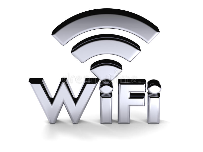 Symbole argenté de WiFi illustration libre de droits