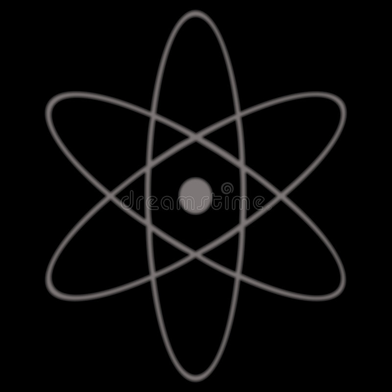 Symbole atomique illustration de vecteur