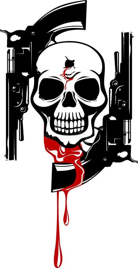 Symbole avec le crâne illustration libre de droits