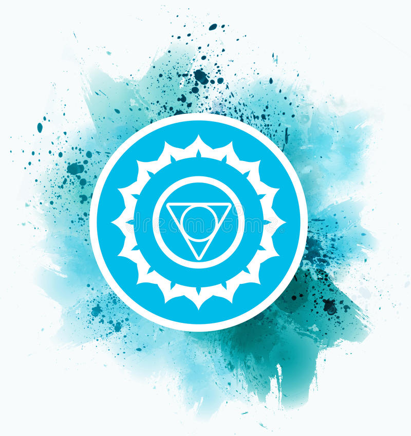 Symbole bleu de chakra illustration libre de droits