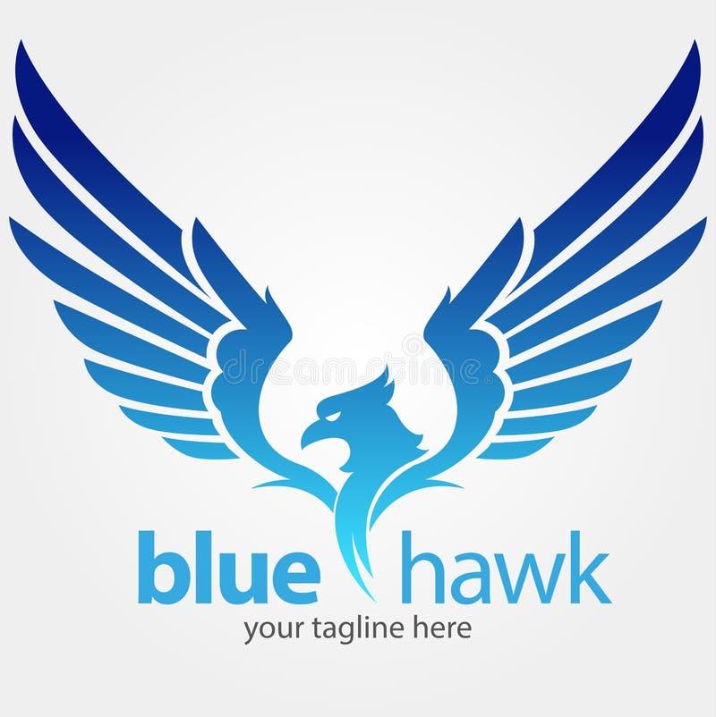 Symbole bleu de faucon illustration de vecteur