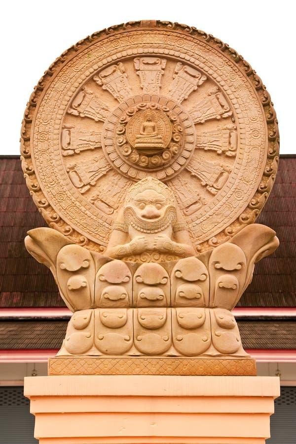 symbole bouddhiste de dhammajak images stock