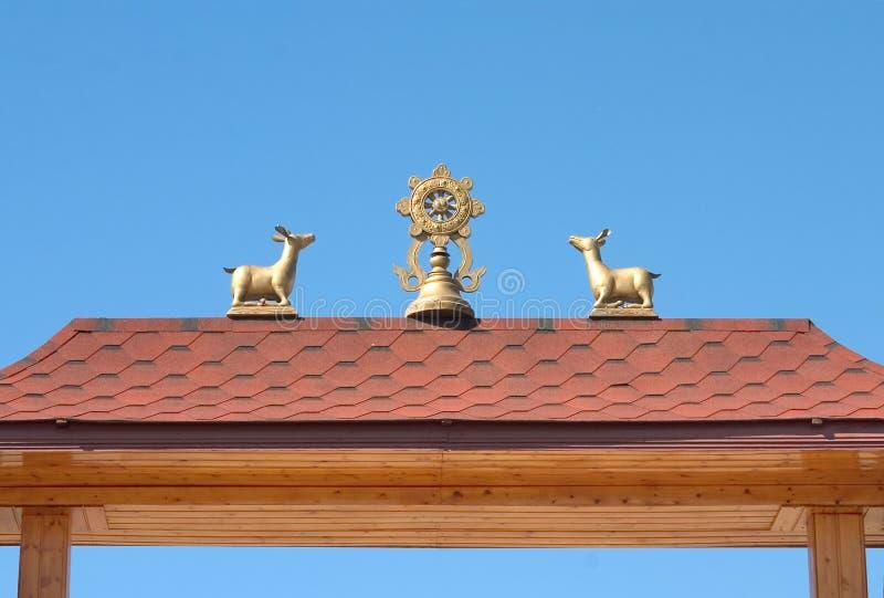 Symbole buddhistisch stockbild